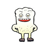 Comic cartoon tooth looking smug Royalty Free Stock Image