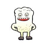 Comic cartoon tooth looking smug Royalty Free Stock Image