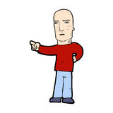 Comic cartoon tough guy pointing Royalty Free Stock Images