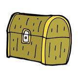 Comic cartoon treasure chest Royalty Free Stock Photography