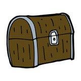Comic cartoon treasure chest Stock Photography