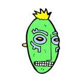 comic cartoon tribal mask Stock Image