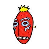 comic cartoon tribal mask Stock Photography