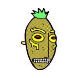 comic cartoon tribal mask Stock Images