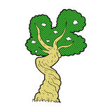 comic cartoon twisted old tree Royalty Free Stock Images