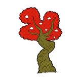 comic cartoon twisted old tree Stock Photos