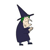 comic cartoon ugly old witch Royalty Free Stock Photo