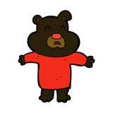 comic cartoon unhappy black bear Royalty Free Stock Photos