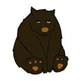 comic cartoon unhappy black bear Stock Photos