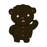 comic cartoon unhappy black teddy bear Royalty Free Stock Image
