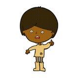 Comic cartoon unhappy boy Stock Photo