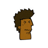 Comic cartoon unhappy man Stock Images