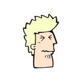 Comic cartoon unhappy man. Retro comic book style cartoon unhappy man Royalty Free Stock Photo