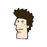 Comic cartoon unhappy man. Retro comic book style cartoon unhappy man Stock Photography