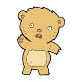 Comic cartoon unhappy teddy bear. Retro comic book style cartoon unhappy teddy bear Royalty Free Stock Image