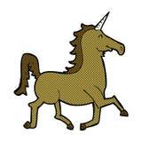 Comic cartoon unicorn Stock Images
