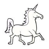 Comic cartoon unicorn Stock Image