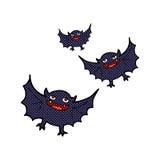 Comic cartoon vampire bats Royalty Free Stock Photos