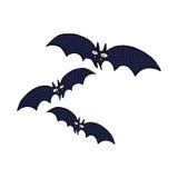 Comic cartoon vampire bats Royalty Free Stock Photo