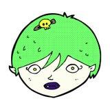 Comic cartoon vampire face Stock Image