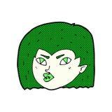 Comic cartoon vampire face Royalty Free Stock Photo