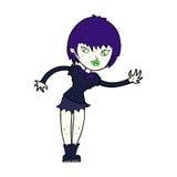 Comic cartoon vampire girl welcoming Royalty Free Stock Photo