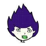 Comic cartoon vampire head Stock Images