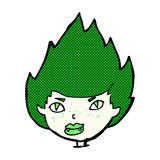 Comic cartoon vampire head Stock Photo