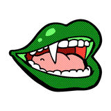 Comic cartoon vampire mouth Stock Photo
