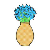 comic cartoon vase of flowers Royalty Free Stock Images