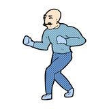 comic cartoon victorian boxer Royalty Free Stock Images