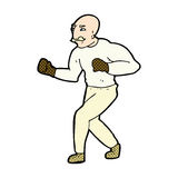 comic cartoon victorian boxer Stock Photography
