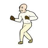 comic cartoon victorian boxer Stock Photography