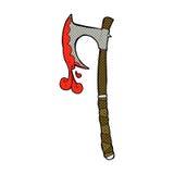 Comic cartoon viking axe Stock Photography