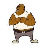 comic cartoon violent man Stock Image