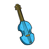 Comic cartoon violin Stock Image