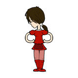 comic cartoon waitress Royalty Free Stock Photography