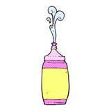 Comic cartoon water bottle Royalty Free Stock Photo