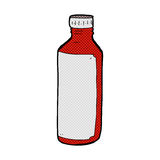 Comic cartoon water bottle. Retro comic book style cartoon water bottle Royalty Free Stock Photography