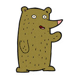 comic cartoon waving bear Royalty Free Stock Images