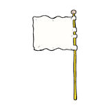 Comic cartoon waving flag Royalty Free Stock Photos
