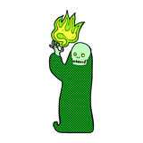 Comic cartoon waving halloween ghoul Royalty Free Stock Image