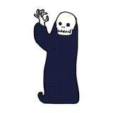 Comic cartoon waving halloween ghoul Stock Photos