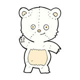 comic cartoon waving polar bear Stock Photo