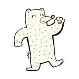comic cartoon waving polar bear Royalty Free Stock Photo