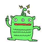 comic cartoon weird little alien Royalty Free Stock Photography