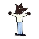 Comic cartoon werewolf Royalty Free Stock Image