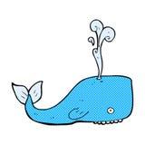 Comic cartoon whale Royalty Free Stock Photography