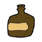Comic cartoon whisky jar Royalty Free Stock Images