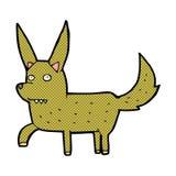 Comic cartoon wild dog Royalty Free Stock Image